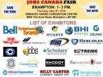 FREE: Brampton Job Fair – May 09th, 2019, brampton